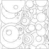 Illustrator, modelo inconsútil, círculos, s, ejemplos, Imagenes de archivo