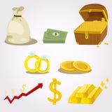 Illustrator of money icon set Stock Image