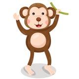 Illustrator of monkey cute vector Stock Photography