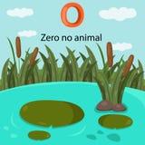 Illustrator of number zero is no animal Royalty Free Stock Photos