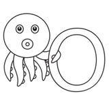 Illustrator of o octopus Royalty Free Stock Photos