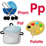 Illustrator of P alphabet Royalty Free Stock Image