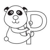 Illustrator of p panda Royalty Free Stock Photo