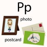 Illustrator of p vocabulary Stock Image