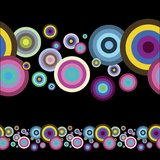 Illustrator patern. Colorful circles. illustrator patern brush vector illustration