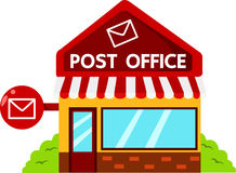 Illustrator of post office buildings Stock Photos