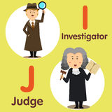 Illustrator of professional character investigator and judge Royalty Free Stock Images
