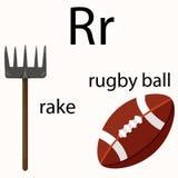 Illustrator of r vocabulary Royalty Free Stock Image