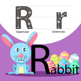 Illustrator of rabbit with r font Stock Images
