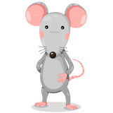 Illustrator of rat cute vector Royalty Free Stock Images