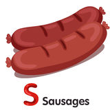 Illustrator of s font with sausages Stock Photos