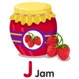 Illustrator of strawberry jam Stock Photos