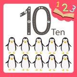 Illustrator of ten number animal Stock Photos