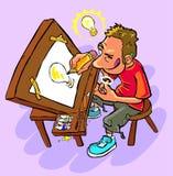 Illustrator tiene una idea ilustración del vector