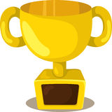 Illustrator of trophies Champions Cup Royalty Free Stock Photo