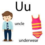 Illustrator of u vocabulary Royalty Free Stock Image
