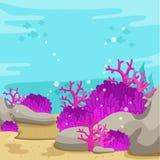 Illustrator of underwater on the sea Stock Image