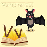 Illustrator of V for Vampire bat vocabulary Royalty Free Illustration