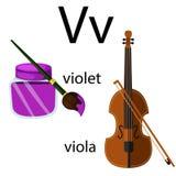 Illustrator of v vocabulary Stock Image
