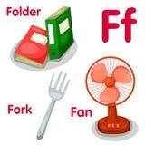 Illustrator van F-alfabet Royalty-vrije Stock Afbeelding