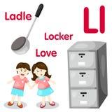 Illustrator van l-alfabet Stock Afbeeldingen
