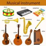 Illustrator van muzikaal instrument stock illustratie