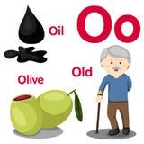 Illustrator van o-alfabet Stock Afbeeldingen