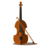 Illustrator of Violin. Musical instrument Stock Image