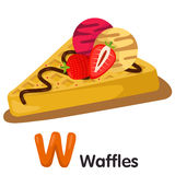 Illustrator of W font with waffles Royalty Free Stock Photos