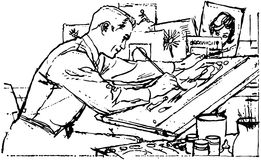 Illustrator At Work Royalty Free Stock Image