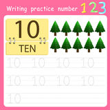 Illustrator Write practice number 10 Royalty Free Stock Photos