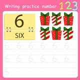 Illustrator Write practice number 6 Royalty Free Stock Images