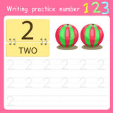 Illustrator Write practice number 2 Royalty Free Stock Image