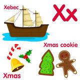 Illustrator of X alphabet Royalty Free Stock Images