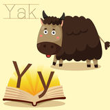 Illustrator of Y for Yak vocabulary Stock Photo