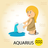 Illustrator of Zodiac with aquarius Royalty Free Stock Photography