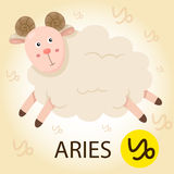 Illustrator of Zodiac with aries Royalty Free Stock Photos