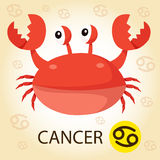 Illustrator of Zodiac with cancer Stock Image