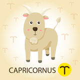 Illustrator of Zodiac with Capricorns Royalty Free Stock Images