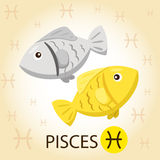 Illustrator of Zodiac with pisces. Sign Royalty Free Stock Photos