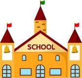 Illustratore degli edifici scolastici Fotografia Stock Libera da Diritti