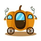 Illustratore del fondo di fantasia della zucca del trasporto illustrazione di stock