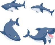 Illustratore del fumetto degli squali Fotografia Stock Libera da Diritti