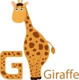 Illustratore del G con la giraffa Royalty Illustrazione gratis