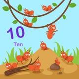 Illustratore del numero dieci royalty illustrazione gratis