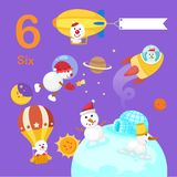 Illustratore del numero sei royalty illustrazione gratis