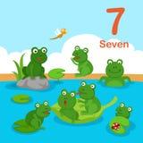 Illustratore del numero sette illustrazione di stock