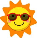 Illustratore del sole con gli occhiali da sole Illustrazione di Stock