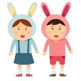 Illustratore del sorriso due della ragazza e del ragazzo royalty illustrazione gratis
