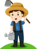 Illustratore dell'agricoltore Immagini Stock